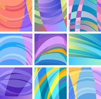 background modern abstract design set