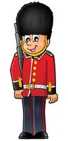 Happy Beefeater guard - picture illustration.
