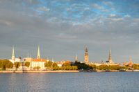 Riga Old town and the Daugava river