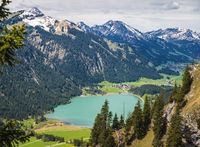 Lake and mountains, Tannheimer Tal valley, Austria