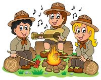Children scouts theme image 1 - picture illustration.