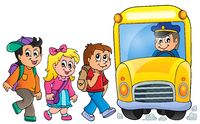 Image with school bus topic 1 - picture illustration.