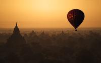 Balloon over Bagan, Burma 2012