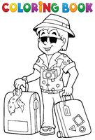 Coloring book travel thematics 1 - picture illustration.