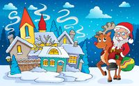 Winter scene with Christmas theme 5 - picture illustration.