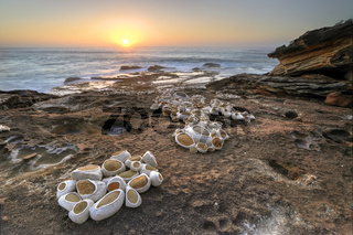 Sunrise on the rocks