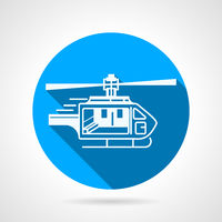 Round vector icon for ambulance helicopter