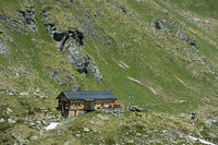Mountain hut Cabane de Louvie,Valais, Switzerland