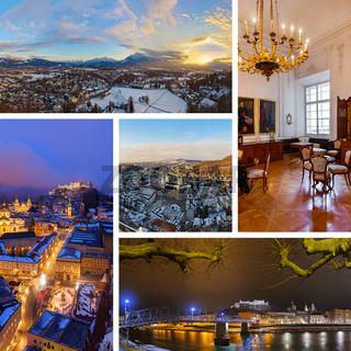 Collage of Salzburg Austria images