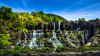 Pongour waterfall. Da Lat, Vietnam