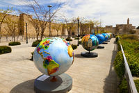 Exhibition globes in Jerusalem