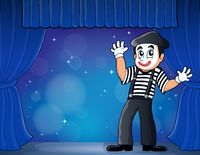 Mime theme image 3 - picture illustration.