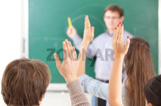 colledge students in auditorium