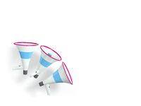 three megaphones