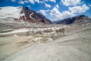 Bald stony mountains of Tien Shan