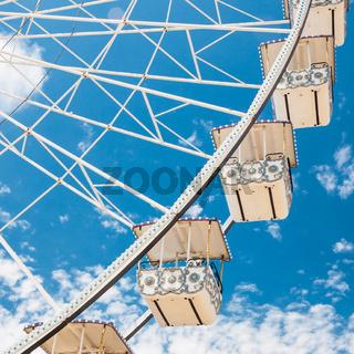 Ferris wheel of fair and amusement park