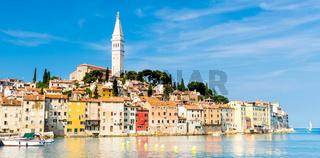 Coastal town of Rovinj, Istria, Croatia.
