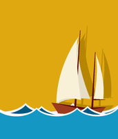 Sailing boat background
