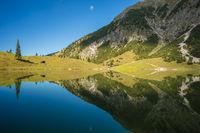 Unterer Gaisalpsee, Allgäuer Alpen, Allgäu, Bayern, Deutschland, Europa