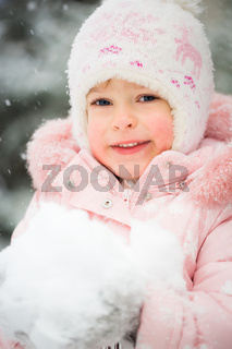 Happy child in winter