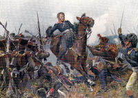The Death of Major von Krosigk near Möckern, 16 October 1813, Battle of the Nations near Leipzig, 16 to 19 October 1813, German Wars of Liberation