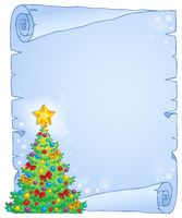 Christmas thematic parchment 7 - picture illustration.