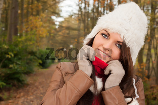 Fashion portrait in the forest