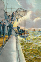 boat maneuvers with a lifeboat