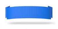 Werbeplakat Horizontal Blau