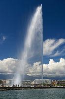 giant fountain Jet d'eau, Geneva, Switzerland
