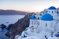 Oia and three blue roofs