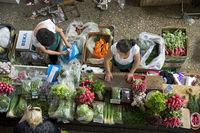 Gemüsestand auf dem Markt