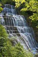 L'Eventail Waterfall,,Menetrux-en-Joux, France