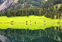 Lake Vilsalpsee water reflection, Austria