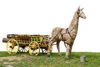 Garden decoration donkey statue