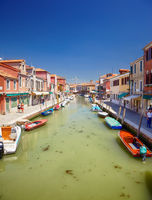 View on Rio dei Vetrai in Murano, Italy
