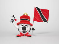 Soccer character fan supporting Trinidad and Tobago