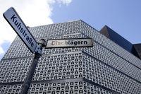 Modern store facade, Brunswick, Germany