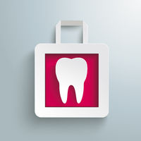 White Paper Shopping Bag Tooth PiAd