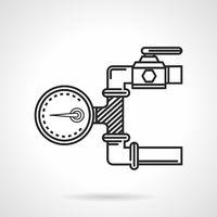 Black line vector icon for manometer