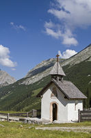 Small chapel in Karwendel mountains