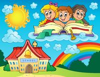 School kids theme image 8 - picture illustration.