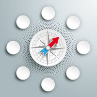 White Paper Infographic Compass Halftone 6 Options PiAd
