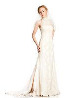 Bride in beautiful white dress