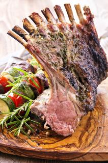 grilled lamb rack