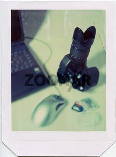 Still 'digitale Fotografie'-4x5 inch Polaroidfoto