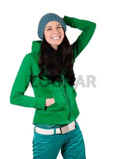 Girl in cap