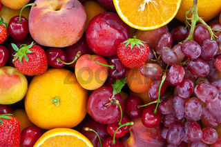 Frische bunte Fruechte