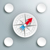 White Paper Infographic Compass Halftone 4 Options PiAd