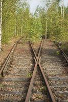 Closed railway-track